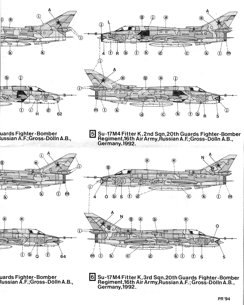 Декали для Су-17М4 от Hi Decal в 1/48