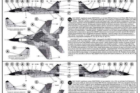 Декаль для МиГ-29СМТ от Бегемота в 1/48